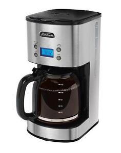 Sunbeam Stainless Steel 12- Cup Programmable Coffee Maker - BVSBCM0001-033