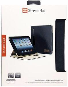 XtremeMac ThinFolio Premium Folio Case With Multi-Angle Stand For iPad 2/3/4
