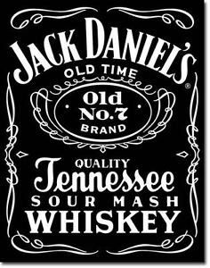 Large JACK DANIELS WHISKY OLD NO7 Vintage Retro Metal Tin Wall Plaque Sign 780