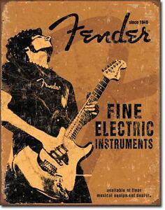 Enseigne de métal Fender