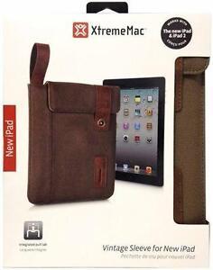 XtremeMac Vintage Sleeve For iPad 2/3/4 - Brown - PAD-VSL-53