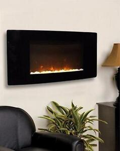 NEW PARAMOUNT ELECTRIC FIREPLACE TAVASI CURVED WALL-MOUNT ELECTRIC FIREPLACE - HOME HEATING FIRE WARMING  83047127