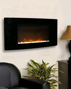 NEW  Curved Wall-Mounted Electric Fireplace  1