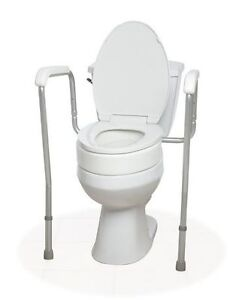 Medline toilet safety rail and riser- like new condition