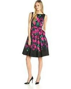 New Eliza J Floral Jacquard Fit-and-Flare Dress Size 6 with tag