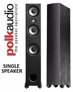 NEW POLK AUDIO T600 200-WATT TOWER SPEAKER - SINGLE, BLACK