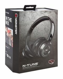 Monster N-Tune Headphones - Blk  *NEW*
