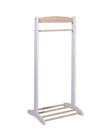 John crane baby and toddler clothes rack / rail white and beige