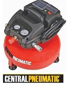 NEW OB CENTRAL 3GAL AIR COMPRESSOR 3-GAL OILLESS PANCAKE AIR COMPRESSOR CENTRAL PNEUMATIC