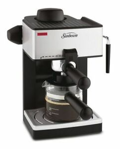 NEW: Sunbeam 1-4 Cups Steam Espresso Maker(Box slightly damaged)