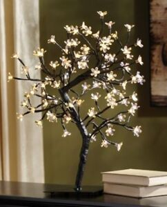 Pre-Lit White Cherry Blossom Tree set of 2