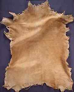 Turkey feathers and deer hide