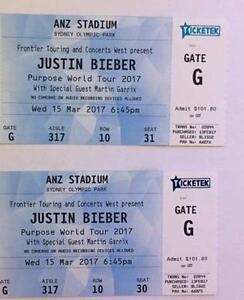 2 x Justin Bieber Tickets ANZ Stadium Sydney C Reserve Garran Woden Valley Preview