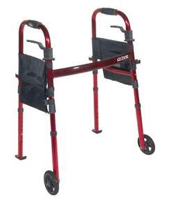 "TRAVEL WALKER / Drive Medical Portable Folding 5"" Wheels / NEW"