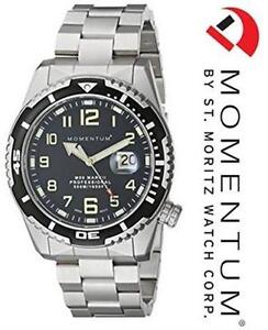 MOMENTUM MEN'S MARK II MILITARY INSPIRED ANALOG BLACK WATCH