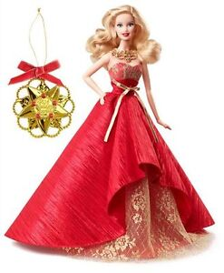 Barbie Holiday 2014 Collector Doll with Ornament NEW London Ontario image 5