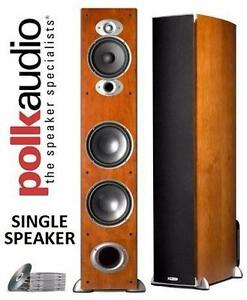 NEW POLK AUDIO RTI A7 FLOORSTANDING SPEAKER (SINGLE, CHERRY)
