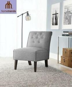 NEW HOMETRENDS SLIPPER CHAIR 98843GRY01 238392488 GREY
