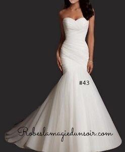 #43 - Tailles 2 4 10 12  Robe de mariée