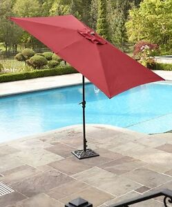 New Umbrella for patio  9 ft with Base included free shipping