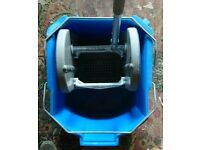 Professional Mop Bucket on wheels. For restaurants, shops, cafes, Catering use