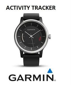 GARMIN VIVOMOVE ACTIVITY TRACKER WRISTWATCH BLACK WITH SPORT BAND