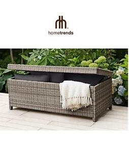 NEW HOMETRENDS STORAGE TABLE HOMETRENDS BORNEO STORAGE COFFEE TABLE PATIO FURNITURE 104464524