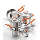 Rachael Ray 10pc Non-stick Stainles Steel Cookware Set