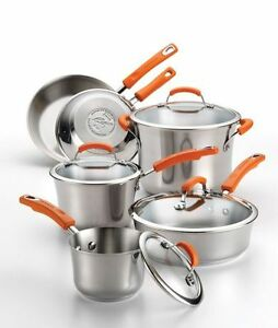 Rachael-Ray-Non-stick-Stainless-Steel-Cookware-Set-10-Piece