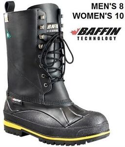 BAFFIN EXTREME COLD STEEL TOE/PLATE WORK BOOTS - M 8 W 10