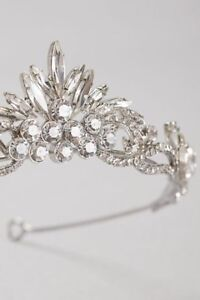 Marquise and Solitaire Cluster Tiara WHITE BY VERA WANG