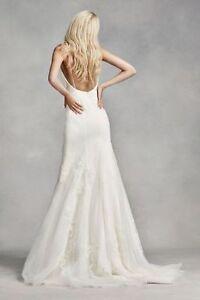 Vera Wang Spaghetti Strap Wedding Dress