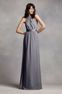Size 6 pewter bridesmaid dress