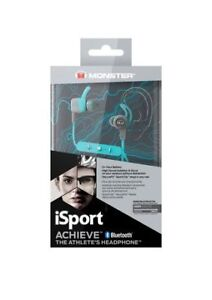Monster Isport Achieve In-ear Bluetooth Headphones with Mic-Blue