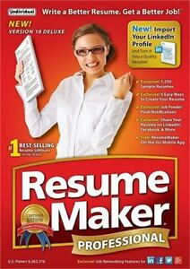NEW RESUME MAKER PROFESSIONAL SOFTWARE