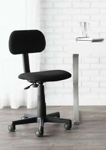 Adjustable Fabric Spin Chair in Black