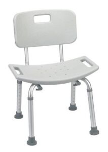 Medical Gray Bathroom Safety Shower Tub Bench Chair