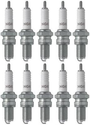 Set of 10 NGK Standard Spark Plugs for Yamaha XS500 1978-1975 Engine 500cc