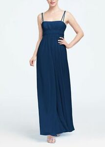 Two - Spaghetti Strap Chiffon Dresses with Beaded Empire Waist
