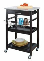 movable kitchen island with granite top