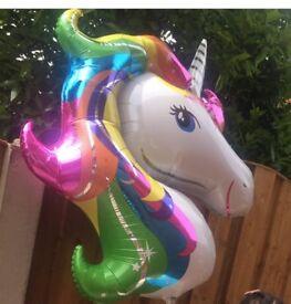 Extra large unicorn helium balloon