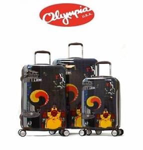NEW OLYMPIA ART 3PC SPINNER SET   ART SERIES KING SEJONG 3 PIECE SPINNER SET LUGGAGE BAGGAGE TRAVEL GEAR 93074398