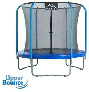 NEW UPPER BOUNCE SKYTRIC TRAMPOLINE WITH TOP RING ENCLOSURE SYSTEM - 8' - TOYS GAMES OUTDOORS FITNESS EXERCISE  79650516