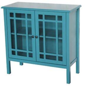Glass Door Accent Cabinet - $99 (Burnaby)