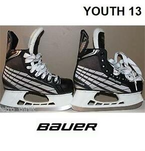 BAUER CHALLENGER ICE HOCKEY SKATES YOUTH SIZE 13.0 WIDTH: R