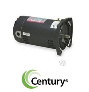 USED CENTURY ELECTRIC MOTOR 1.5 HP UP-RATED SQUARE FLANGE REPLACEMENT MOTOR POOL HOT TUB PARTS ACCESSORIES
