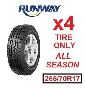 4 NEW RUNWAY ENDURO HT TIRES - 116514435 - ALL SEASON 265/70R17 113T