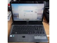 "ACER 15.6"" GLOSSY SCREEN LAPTOP DUAL CORE 2.1 GHZ CPU, 4 GB MEMORY, 250 GB HARD DRIVE."