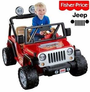 NEW FISHER PRICE JEEP WRANGLER   LAVA RED & BLACK - POWER WHEELS KID'S TOY RIDE ON RIDE-ON KIDS PLAY 93782338