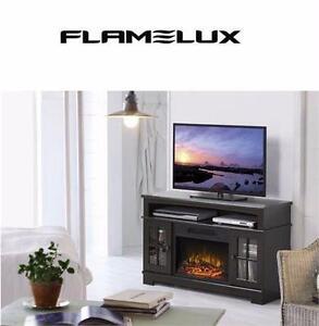 NEW FLAMELUX ZARATE MEDIA FIREPLACE   ESPRESSO 44.5 INCH WIDE MEDIA FIREPLACE HOME INDOOR HEATER DECOR 97741963